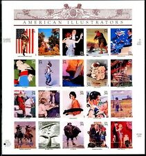 American Illustrators Complete Sheet of 20 S/A MNH $.34 Stamps Scott's 3502