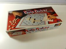 Scrabble Quip Qubes Cross Sentence Board Game Vintage 1981 FREE SHIP