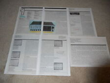 The Carver Receiver Review, 1984, Full Test, 5 pg