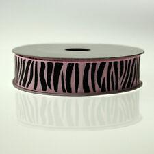 Animal Zebra Stripe Grosgrain Ribbon, 7/8-inch, 10-yard