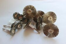 """12pcs Steel Wire Brush Wheel Shape 1.5"""" and 7/8"""" Rotary Tool"""