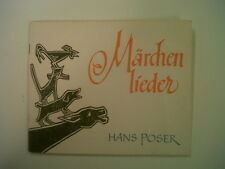 songs MAERCHEN LIEDER Hans Poser