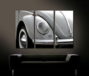 VINTAGE FRONT DETAILS Leinwand Bild Käfer Deko Oldtimer 60er Auto Nostalgie