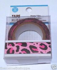 Dollar Tree Washi Tape Pink Leopard Print NEW EASY TO TEAR! So Cute!