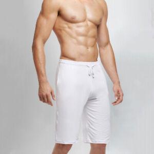 Hot Men's Modal Casual Shorts Home Loose Sleepwear Lounge Pants US Size S-2XL