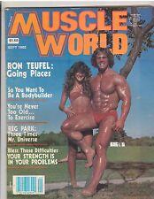 MUSCLE WORLD bodybuilding PREMIERE ISSUE magazine/RON TEUFEL 9-80