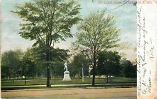 Indianapolis~St Clair Park Runner Statue~American Gymnastics Union Meeting~1906