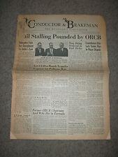 CONDUCTOR & BRAKEMAN Roadman's Publication May 1967 Newspaper    Trains