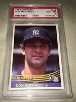 1984 DONRUSS DON MATTINGLY PSA 8 NM-MT NEW YORK YANKEES