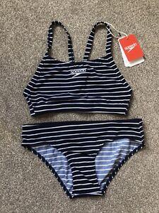 SPEEDO Endurance Ladies 2 Piece Swimming costume Tankini Bikini, Size 8