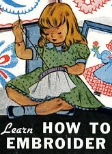 Vintage Embroidery Transfer Repo 101 A Primer of Stitches Learn to Embroider