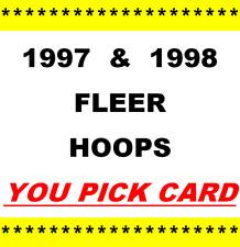 1997-98 & 1998-99 ~ Fleer Hoops Basketball ~ YOU PICK CARD