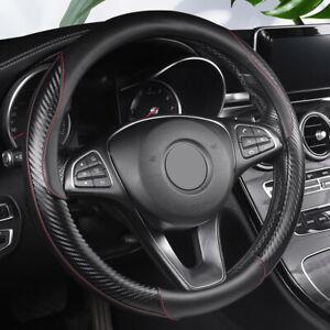 38cm/15'' Carbon Fiber Car Steering Wheel Cover Universal For SUV Truck Non-Slip