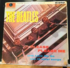 BEATLES - PLEASE PLEASE ME BLACK & GOLD PMC 1202 NORTHERN SONGS CREDIT 1963