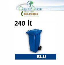 Pattumiera/Contenitore/Bidone per raccolta rifiuti uso esterno 240 litri Blu