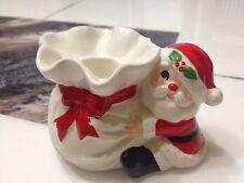 Vtg Fitz & Floyd Santa Candle Holder 1978 Handpainted Japan