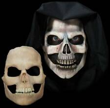 Skull Death Undead Skeleton Halloween Mask Foam Latex Prosthetic Moves with Face