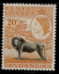 KENYA UGANDA TANGANYIKA QEII SG170, 20c black & orange, NH MINT.