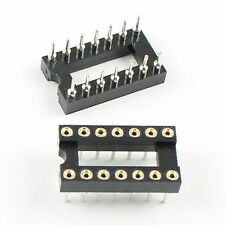 20Pcs 2.54mm Pitch 14 Pin DIP Round Pin Solder IC Socket Adaptor Narrow