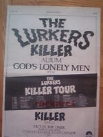 LURKERS Killer 1979 UK Poster size Press ADVERT 16x12 inches