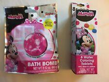 Set Disney Minnie Mouse 1 Both Bomb & 1 Bathtub Fizzies Kids Bath Bomb Set