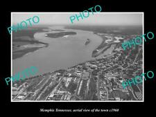 OLD LARGE HISTORIC PHOTO MEMPHIS TENNESSEE AERIAL VIEW OF THE TOWN c1960