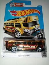 2016 Hot Wheels School Bus Hot Wheels High Super Chromes Long Card New