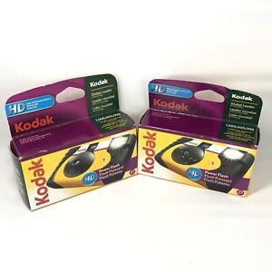 Lot Of 2 Kodak PowerFlash Single Use Film Camera 27 HD - Brand New