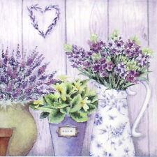 4x Paper Napkins for Decoupage Decopatch Vintage Lavender