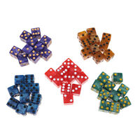 50x Six Sided Square D6 Dice Dotted W Bag for Adults TRPG DND MTG Toys Gifts