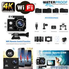 "2"" 4K Ultra HD 12MP Helm Action Camera Sports DV WiFi Cam 30m Waterproof Go Pro"