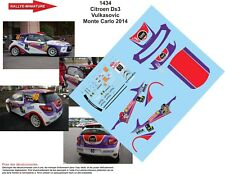 D43422 #28 DEMAERSCHALK RALLYE CONDROZ 2014 DECALS 1//43 CITROËN DS3 R3