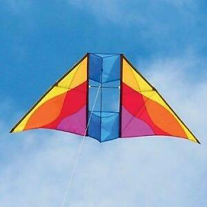 Mesa Delta Conyne Kite-New 71″x 30″ Single Line Mesa DC Kite-Into The Wind-Case