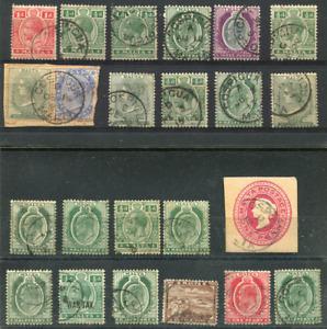 MALTA (23536): POSTMARKS/CANCELS/QV stamps