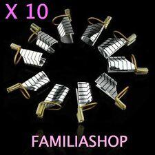 2 Lots de 5 soit 10 formes chablon réutilisable construction pour ongles