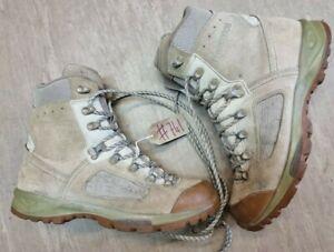 Original British Army Issue Leather Lowa Desert Combat Boots Size 9 UK #741