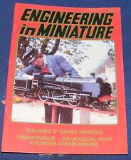 """ENGINEERING IN MINIATURE OCTOBER 1987 - BUILDING 5"""" GAUGE WAGONS"""