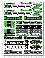 Z1000 Kawa motorcycle decals stickers set fairing Z 1000 Laminated Green