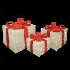 Noël Atelier Batterie DEL de Noël Guirlandes Boîte Cadeau Lumières, Set de 3