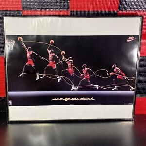 "1992 NBA Michael Jordan ART OF THE DUNK Nike Vintage 16"" X 20"""