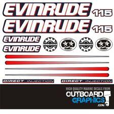 Evinrude 115hp Ficht outboard engine decals/sticker kit
