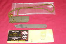 Vintage Newt Livesay Wicked SOP Combat Neck Knife Hideaway Survival Tactical Old