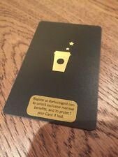 Rare 2008 MINT condition Starbucks Black Gold Gift Card! 6050 Serial #