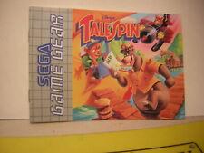 Sega Game Gear Talespin: Manual,Instruction,Manual,Manual