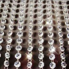 10 Strings x 1m Acrylic Crystal Beads Wedding Garland Strand Chandelier Hanging