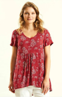SALE NOMADS Jam Scoop Hem Daisy Print Smock Tunic Top Boho Hippy  FAIR TRADE