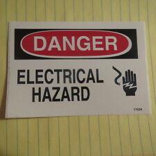 """5X Danger Electrical Hazard Sticker Safety Sticker Sign 5"""" x 3.5"""" Osha 17534"""