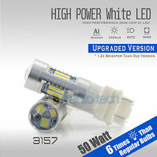 2X 3157 50W 3535 Chip 1300LM Projector LED White Daytime Running Lights Bulbs