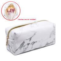 Women Marble Travel Make Up Cosmetic Bag Fashion Multifunction Makeup Brush Bag