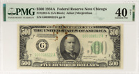 1934A $500 Federal Reserve Note Chicago PMG EF 40 NET FR#2202-G Julian Morgenth